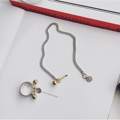 Metal Ball with Bar Anklet