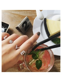 LOVE with Diamond Finger Ring
