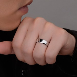 Classic Black / Silver Band Ring