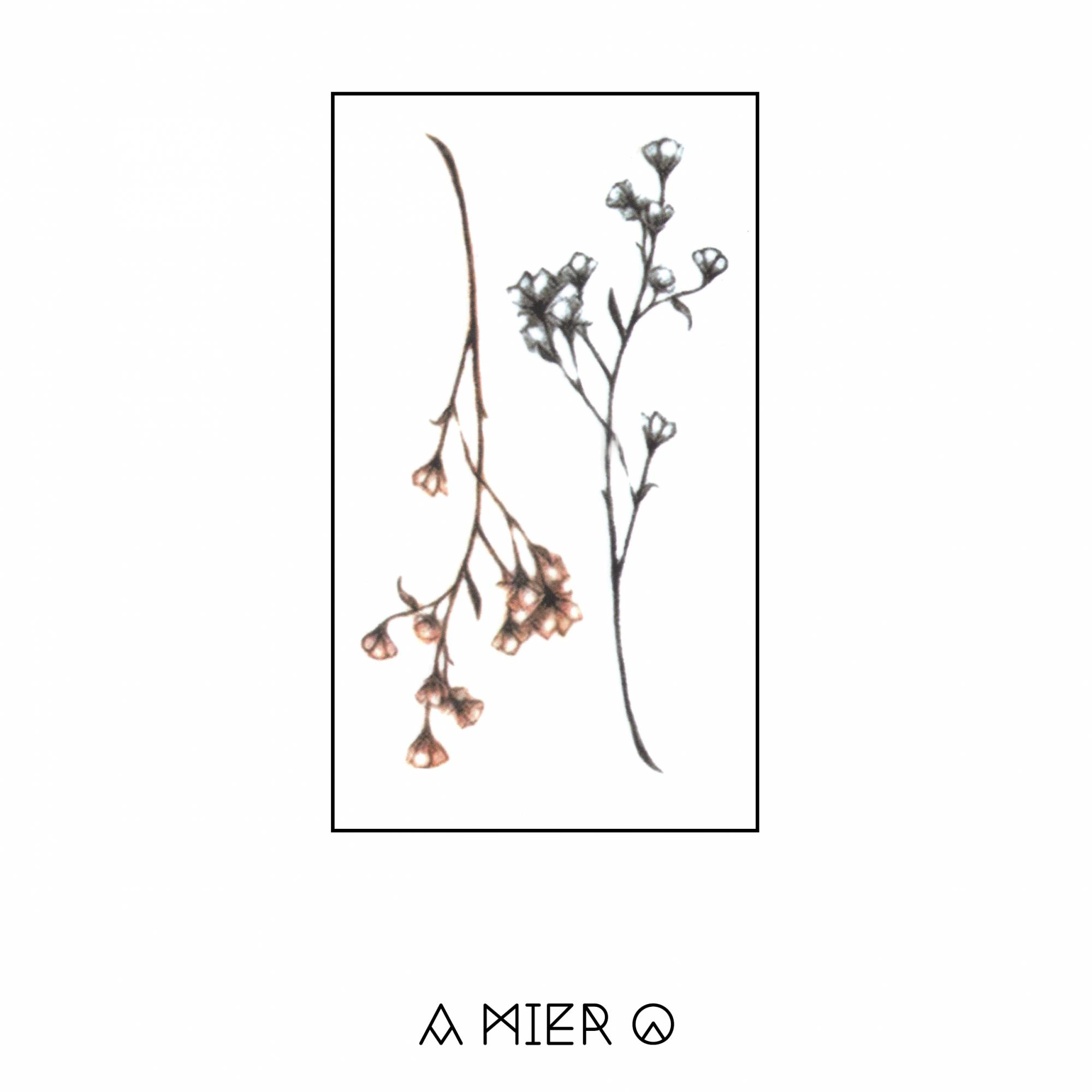 Temporary Tattoo Minimalist And Delicate Flower No 10