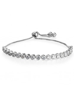 Round Shaped Diamond Drop Metal Ball Bracelet