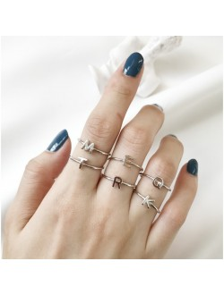 Alphabet Ring (925 Sterling Silver)