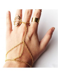 Minimalist Chain Linked Ring and Bracelet