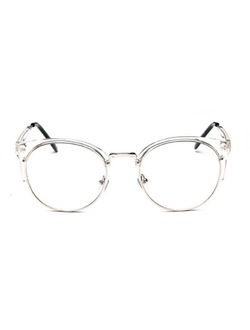 Round Lenses Half Frame Cat Eye Glasses