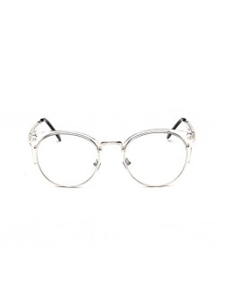 Semi Rim Half Frame Clear Frame Transparent Glasses