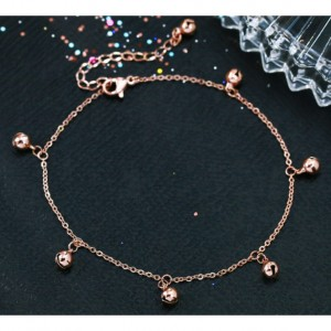 Rose Gold Bell Anklet
