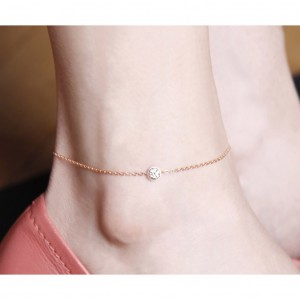 Rose Gold Diamond Anklet