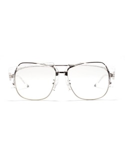 Crossky Semi Rim Half Frame Clear Frame Transparent Glasses