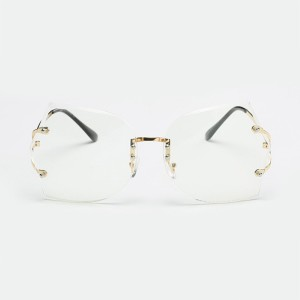 Butterfly Oversized Rimless Glasses