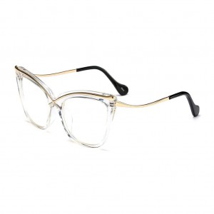 Lusciousness Divine Square Shaped Cat Eye Clear Frame Glasses