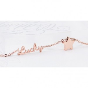 Lucky Star Rose Gold Anklets