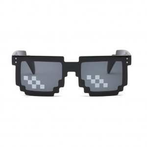 Thug Life Deal With It Unisex Square Shaped Mosaic Sunglasses