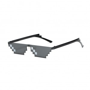 Thug Life Deal With It Unisex Flat Top Mosaic Sunglasses (3 Bit Pixel)