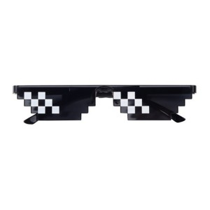 Thug Life Deal With It Unisex Flat Top Mosaic Sunglasses (6 Bit Pixel)