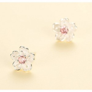 Pink Diamond Sakura Earrings