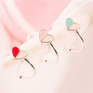 Pastel Color Heart Shaped Ring