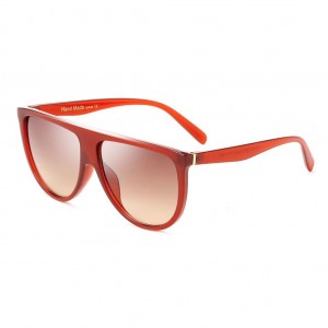 Thin Shadow Flat Top Sunglasses