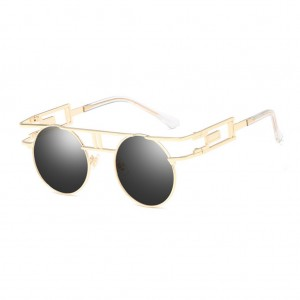 Vintage Hollow Frame Round Shaped Steampunk Unisex Sunglasses