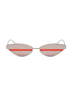 Red Striped Cat Eye Sunglasses