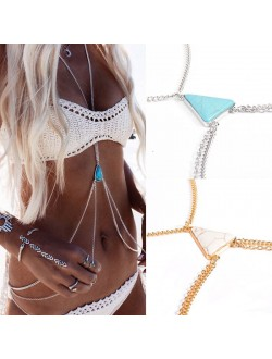 Turquoise / Marble Body Chain