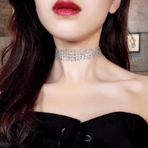 Sexy Net Yarn Sequins Choker Necklace
