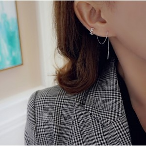 Zig Zag Threader 2 Way Earring