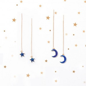 Moon Threader Planet Earrings