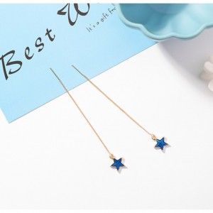 Star Threader Planet Earrings