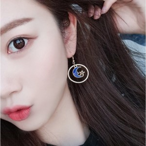 Universe Space Moon Star Planet Earrings