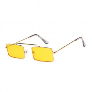 Retro Rectangular Shaped Sunglasses