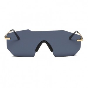 Irregular Rimless One Piece Unisex Sunglasses