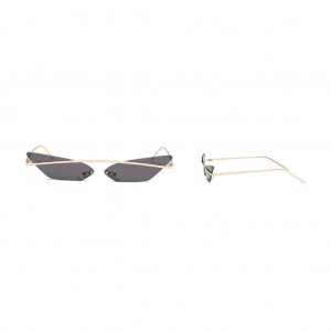 Skinny Demon Rimless Cat Eye Sunglasses