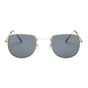 Retro Flat Top Round Shaped Sunglasses