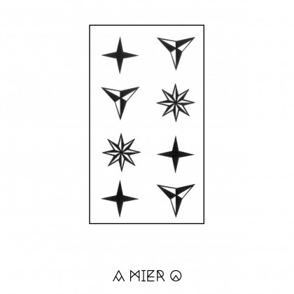 Temporary Tattoo - Multi Pointed Stars