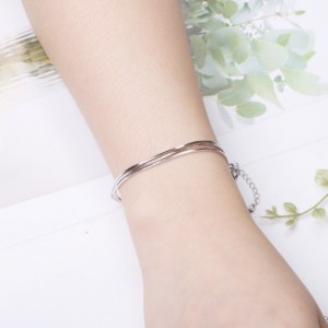 Triple Layered Snake Chain Bracelet