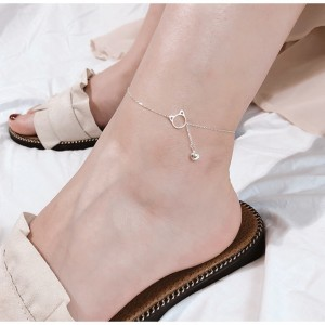Little Kitty Cat Drop Bell Anklet