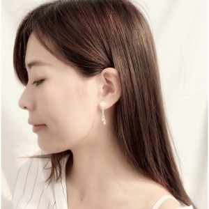 White Sakura Flower Earrings