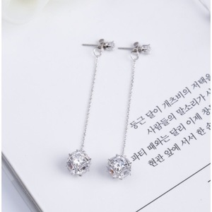 Two Way Diamond Ball Backdrop Earrings