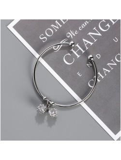Double Diamond Ball Bracelet
