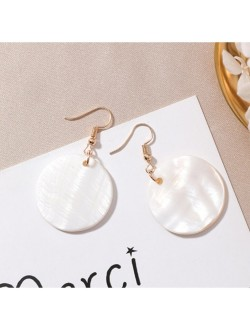 Round Shaped White Shell Earrings