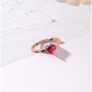 Pink Diamond Love Heart Shaped Ring