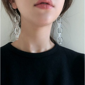 Transparent Clear Chain Link Earrings