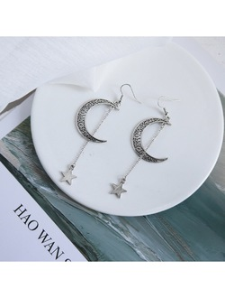 Bohemian Moon Drop Star Earrings