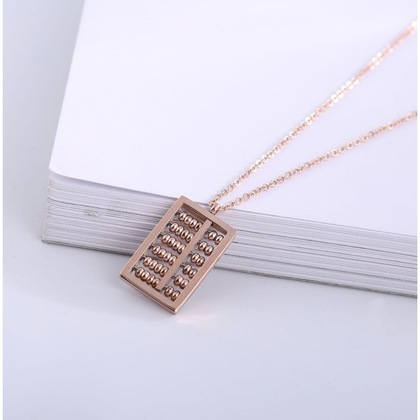 For Money Luck Abacus Necklace