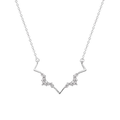 Heartbeat Frequency Zig Zag Necklace