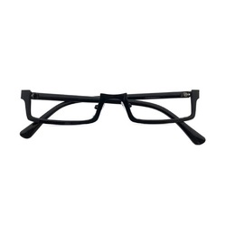 Rectangular Shaped Half Frame Lensless Unisex Glasses