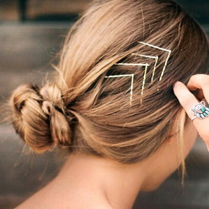 Classic Gold Hair Clips Set