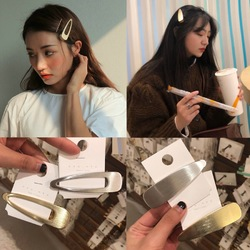 Fashion Brushed Matte Metal Hair Clip
