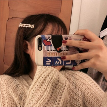 Ins Korean Luxury Headwear Rhinestone and Pearl Hair Clip Hair Pin Hair Accessories