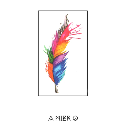 A colourful feather is the best kind of feather